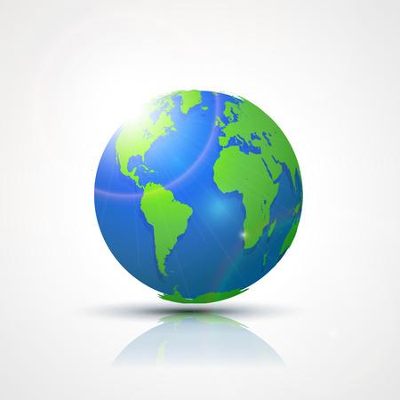 globális kommunikációs: World Globe Térkép - Amerikában, Afrikában és Európában. Globális kommunikációs koncepció vektor