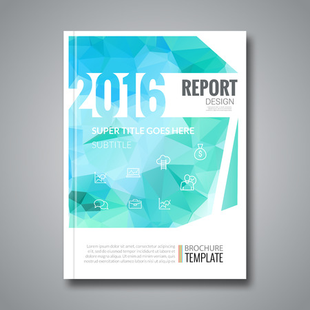 graph report: Business Design Cover Magazine info-graphic  Illustration
