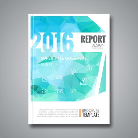 informe: Diseño Portada de revista de negocios infografía Vectores