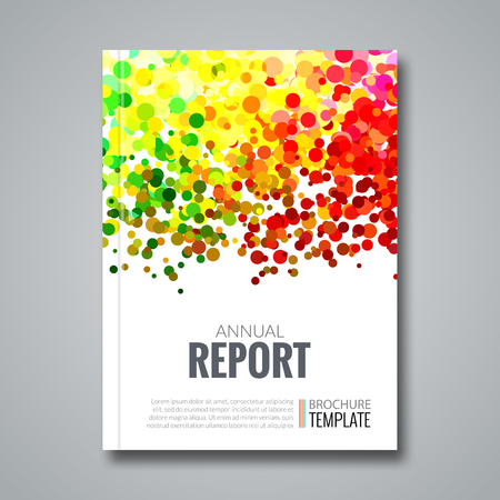 simulating: Business Report Design Background with Colorful Dots, simulating Watercolor.  Illustration