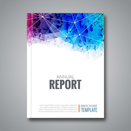 report cover design: Cover Report Business Colorful Triangle Polygonal Geometric pattern Design Background