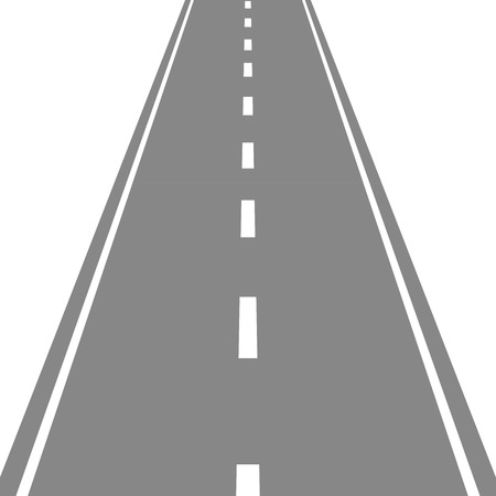 Straight Road vector illustartion
