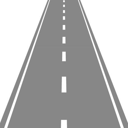 Straight Road vector illustartion Stock Vector - 52089745