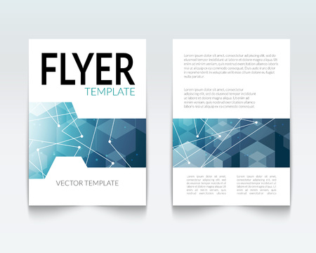 file folder: Business design template. Cover brochure book flyer magazine layout mockup geometric polygonal shapes info-graphic, vector illustration
