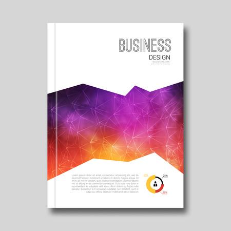 magazine design: Colorful Business background smoky design. Cover Brochure Magazine report template info-graphic vector illustration Illustration