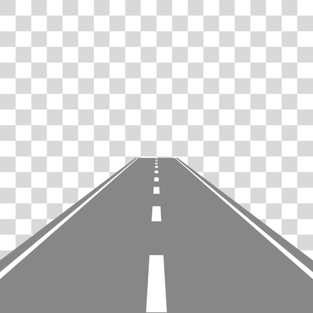 Straight Road on transparent vector illustartion  イラスト・ベクター素材