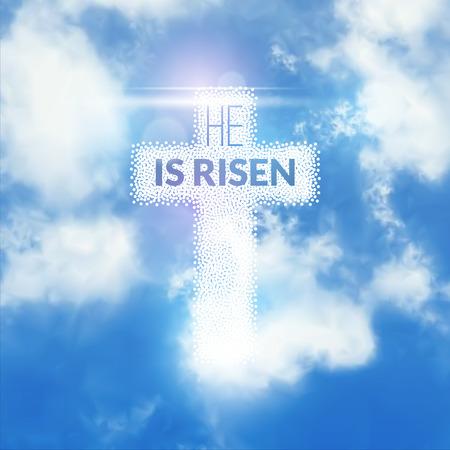 risen: Easter christian celebration He is risen background.