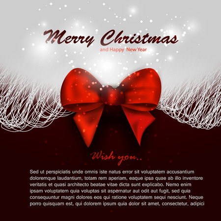 xmas background: Merry christmas background invitation, xmas card vector