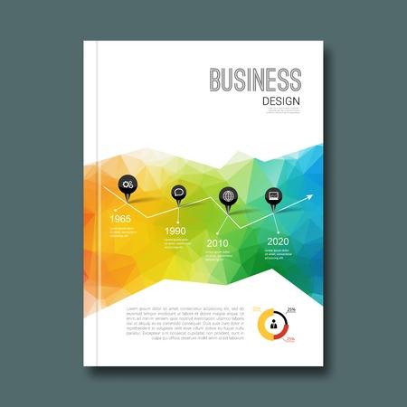 blank magazine: Business design background. Cover Magazine geometric shapes info-graphic Illustration