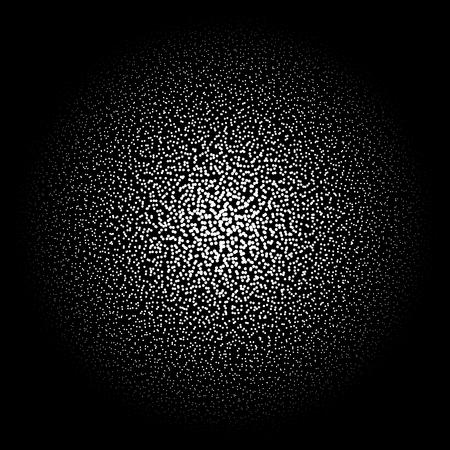 round: Circle Dot Banner. Noisy Round concept. Vintage Background. Vector Illustration