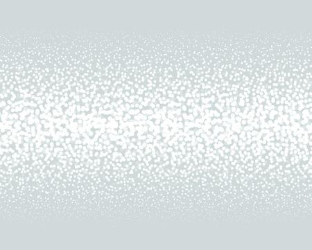 Gradient Dotted Background on Black. Horizontal Dotwork pattern background. Vector Illustration