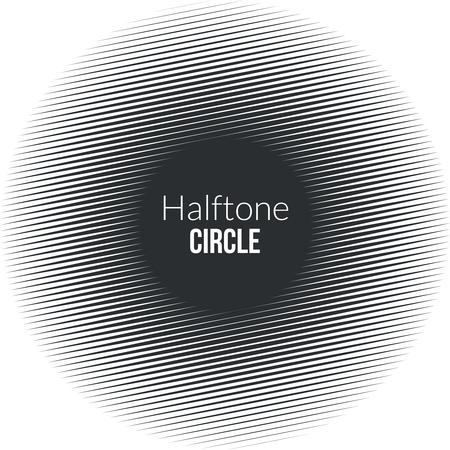 noisy: Circle line halftone Banner. Noisy circle. Vintage Background. Vector Illustration