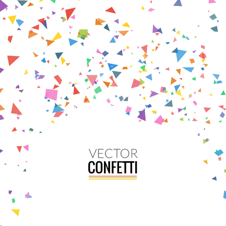 Colorful Confetti isolated on Transparent square Background. Christmas, Birthday, Anniversary Party Concept. Confetti explosion, Confetti colorful elemants. Confetti falling.