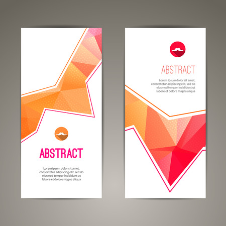 shape vector: Set of polygonal triangular colorful geometric banners for innovate youth modern design. Illustration