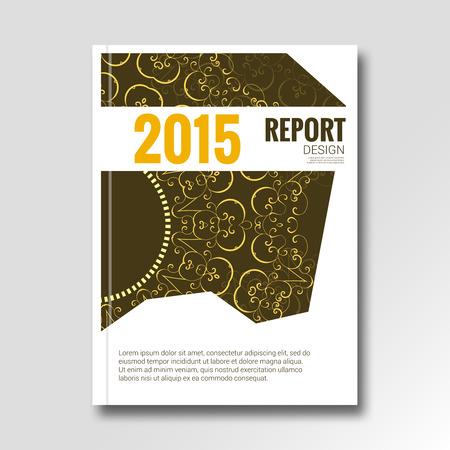 magazine design: Business vintage design background. Cover Magazine, report design vector illustration. Illustration