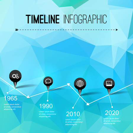 orginal: Infographic timeline design, concept - template with points. Idea to display information, ranking and statistics with orginal and modern style Illustration