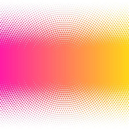 Abstract colorful halftone dots horizontal vector illustration.
