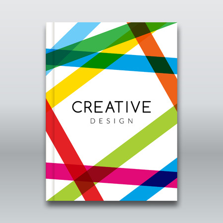 colorful stripes: Vector Poster Flyer Template. Abstract colorful stripes Background for Business Flyers, Posters and Placards. Brochure tamplate Illustration