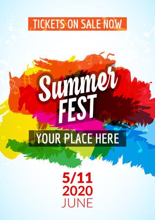 Summer Festival Flyer Design Template. Summer Poster Flyer Template ...