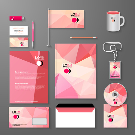 cover concept: Corporate brand Business identity design Template Layout. Letter, Letterhead, Folder, card. Vector company triangle style branding design layout. Brand id theme.