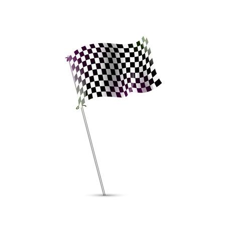 bandera carreras: bandera a cuadros, bandera de la raza, final, comenzará la plantilla de vectores Vectores