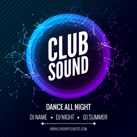 Modern Club Music Party Template, Dance Party Flyer, brochure. Night Party Club Banner Poster Illustration