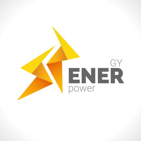 Lighting 2 yellow bolts design Flash design vector element. Fast Quick Power Rapid icon concept symbol. Thunderbolt icon