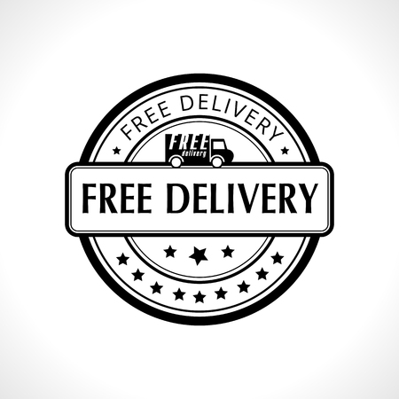 lading: Black stamp with the text free delivery. Fast delivery. Free shipping.