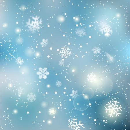 Natale inverno sfondo fiocco di neve modello di progettazione illustrazione Vettoriali