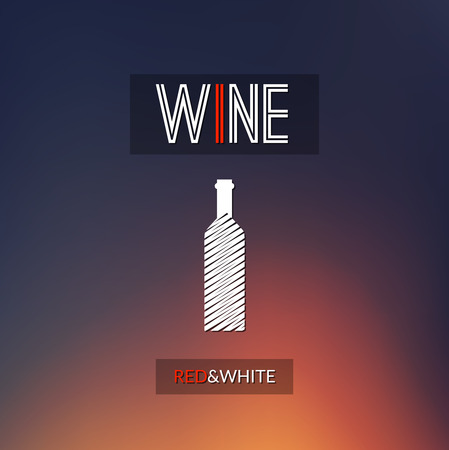 wine cellar: Red and white wine cellar bottle concept design background for business.