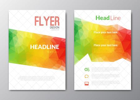 box design: Flyer template. Cover Magazine. Brochure template. Colorful background design vector illustration.