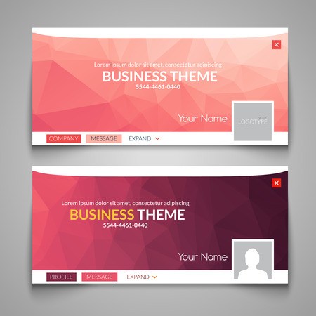 Web business site design, Header Layout Template. Creative corporate advertisement cover. Web design layout. Banner header web design Vektoros illusztráció