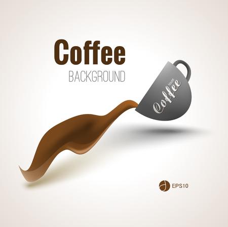 Koffie achtergrond voor uw ontwerpen, affiches en reclame.