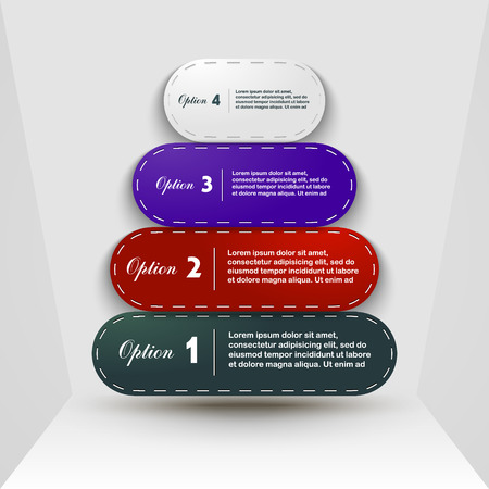 3 4: Options 1, 2, 3, 4 business design template options Illustration