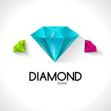 diamond background: Diamond icons business background vector illustration template Illustration