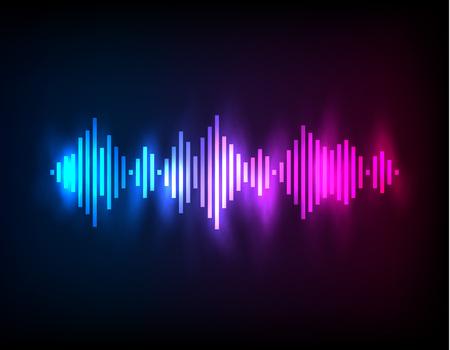 soundtrack: Digital glowing colorful Equalizer. Vector illustration template Illustration