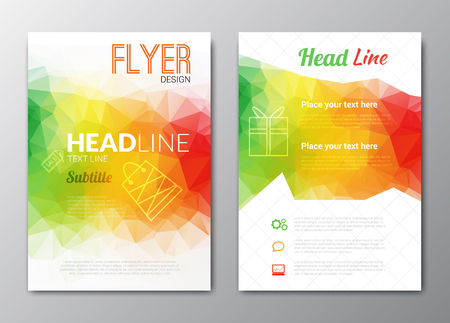 brochure cover: Flyer template. Cover Magazine. Brochure template. Colorful background design vector illustration.