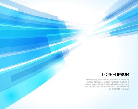 Las líneas azules abstractas encienden el fondo del negocio. Ilustración vectorial
