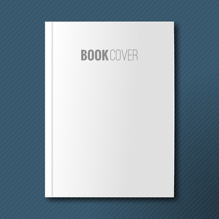 Blank book cover vector illustration gradient mesh. Isolated object for design and branding.