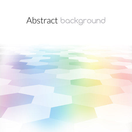 hex: Colorful hex grid background texture. Vector Illustration