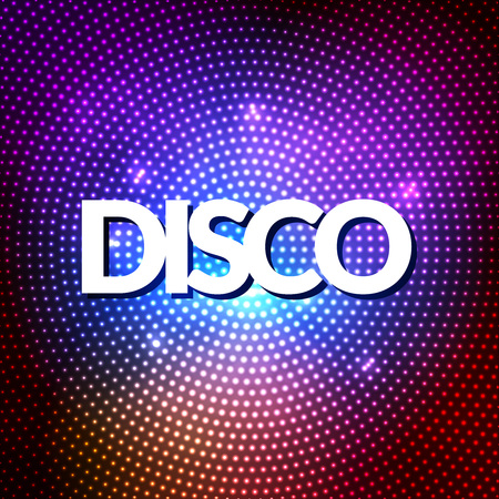 party night: Disco party lights gold background. Hot dance background. Dance floor vector. Disco dance floor. Disco poster. Dance club. Party gold sparkle background. Dance Party Night Poster Background Template Stock Photo