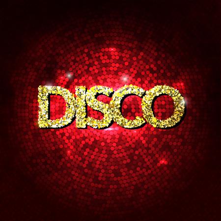 Disco party lumières fond d'or. Hot fond de danse. vecteur de plancher de danse. Disco dance floor. affiche Disco. Club de danse. Partie étincelle d'or de fond. Dance Party Nuit Affiche Fond modèle