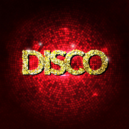 Disco party lights gold background. Hot dance background. Dance floor vector. Disco dance floor. Disco poster. Dance club. Party gold sparkle background. Dance Party Night Poster Background Template Illustration