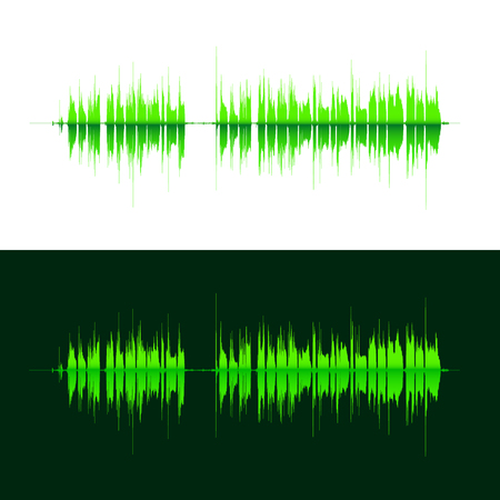 sonic: HQ Vector sound waves. Music waveform green background. You can use in club, radio, pub, DJ show, party, concerts, recitals or the audio technology advertising background.