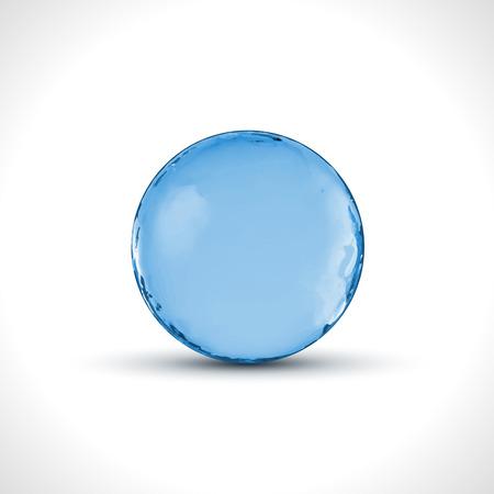 glass sphere: Vector 3D crystal glass sphere ball isolated illustration. Illustration