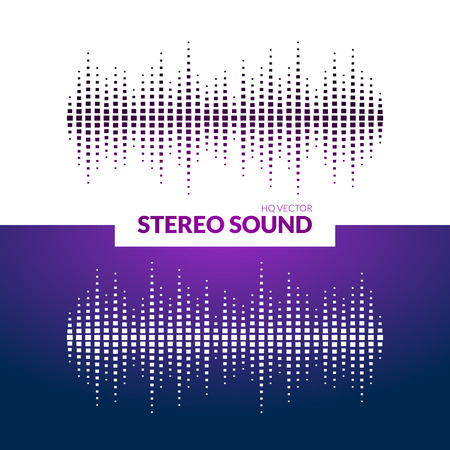 waves: HQ Vector sound waves. Music waveform background. You can use in club, radio, pub, DJ show, party, concerts, recitals or the audio technology advertising background. Illustration