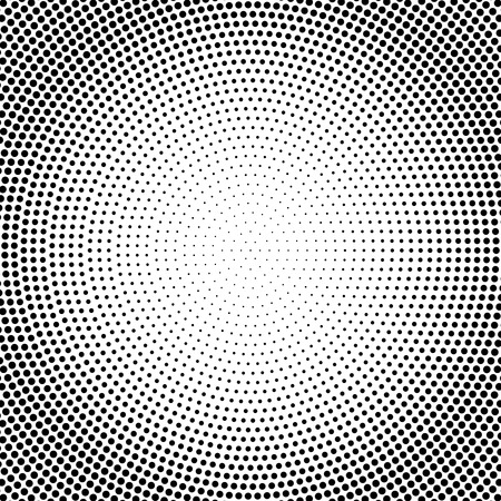 Abstract vector black and white dotted halftone background. Vektorové ilustrace