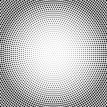Fondo di semitono punteggiato bianco e nero astratto di vettore. Vettoriali