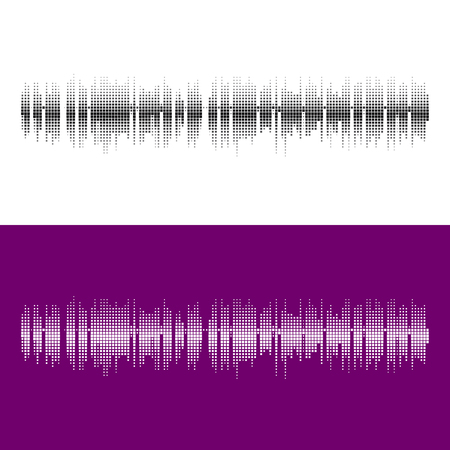 pattern rock: Halftone square vector elements.Vector sound waves. Music round waveform background. You can use in club, radio, pub, party, concerts, recitals or the audio technology advertising background.