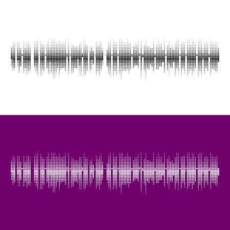 tu puedes: Vector de medias ondas sonoras cuadrado elements.Vector. La música de fondo de forma de onda ronda. Se puede utilizar en el club, radio, pub, fiesta, conciertos, recitales o el fondo de publicidad tecnología de audio.